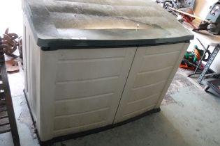 Keter 2 door plastic storage shed