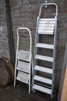 5 tread aluminium ladder with 3 tread stepladder