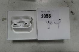 2104 Boxed pair of Apple AirPods Pro with wireless charging case and box