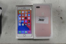 Apple iPhone 7+ in rose gold 128gb mobile phone model A1784
