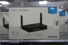 2159 Netgear WiFi 6 AX1800 wifi router in box