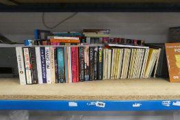 Selection of paper back novels, hardback inc, series of Agatha Christie paperbacks