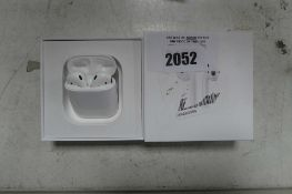 2088 Boxed pair of Apple AirPods 1st gen with charging case