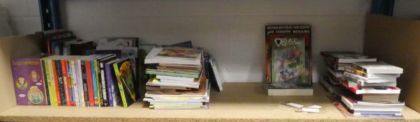 Selection of children's books, graphic novels, hardback and paperback books etc