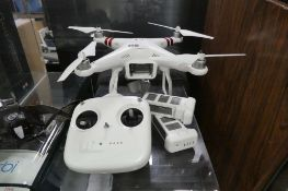 Phantom drone by DJI with 2 batteries, controller, carry case and charger