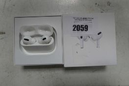 2103 Boxed pair of Apple AirPods Pro with wireless charging case and box