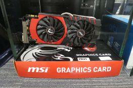 MSi GTX 970 graphics card with box