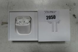 2090 Boxed pair of Apple AirPods 1st gen with charging case
