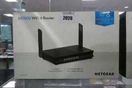 Netgear wifi 6 router model AX1800 in box