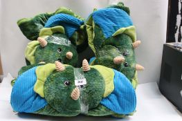 3 triceratops childrens sleeping bags