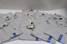 Bag of 10 Crew Clothing Co. polo shirts in grey
