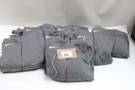 7 Nike dark grey hoodies