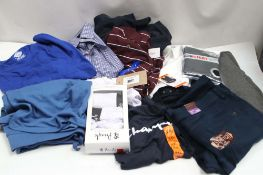 Bag of assorted gents clothing incl. Dickies tops, Pringle underwear and Kirkland shirts