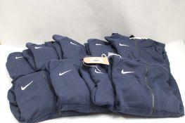 8 Nike tracksuit hoodies in blue