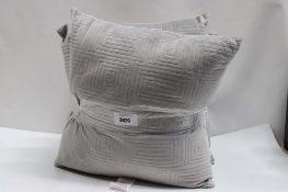 4 cushions in grey dralon