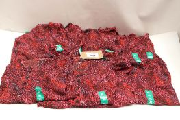 Quantity of Hilary Radley pink and red coral effect tops