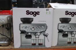 (60) Boxed Sage Barista coffee machine