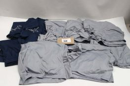 Quantity of Under Armour shorts in blue and grey
