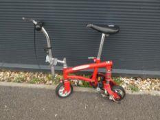 Mini bike in red
