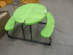 Small Lifetime folding child's picnic table in green