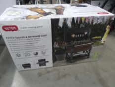 Boxed Keter patio cooler and beverage cart