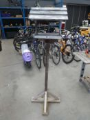 Wooden bird table on stand