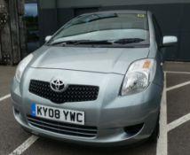 KY08 YWC Toyota Yaris TR in silver, first registered 05.03.2008, one key, 1296cc, petrol, 3 door