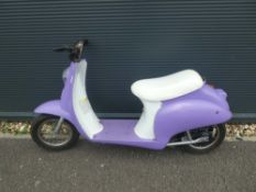 Small purple electric scooter, no charger
