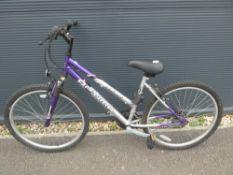 Solano mountain bike in silver and purple