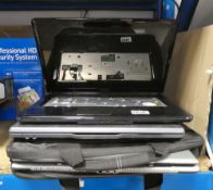 3 laptops component parts for spares and repairs to include Dell, HP and others