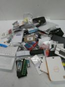 Bag containing quantity of electrical related accessories; routers, keyboard, adapters, etc