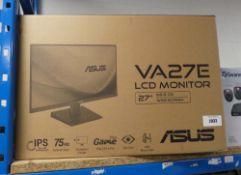 Asus VA27E LCD monitor with box