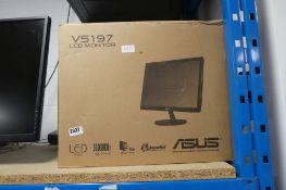 Asus VS197 LCD monitor with box