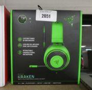 Razer Kraken gaming headset with box