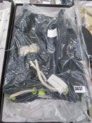 Forbes & Lewis black strawstring bag