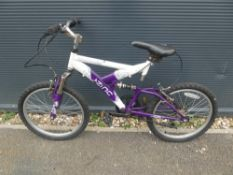 Purple and white Zinc childs bike