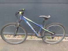 Blue and green childs Carerra bike