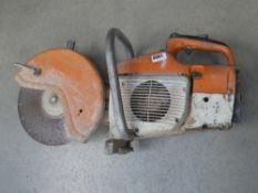 Stihl petrol powered disc cutter