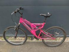 Sabre pink mountain bike