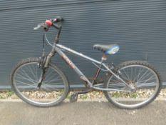 Grey Decathlon childs mountain bike