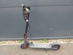 Electric scooter with charger