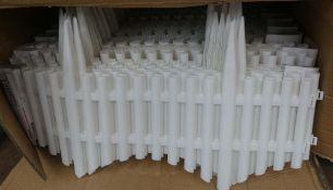 Box of plastic lawn edging