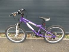 Childs purple and white Carerra bike