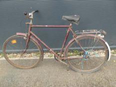 Vintage burgundy gents bike