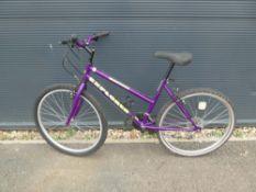 Explorer purple girls mountain bike