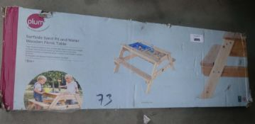 Flatpack wooden childs picnic table