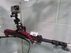 Go Extreme Vision 4K action camera with Gorilla tripod mount and stand