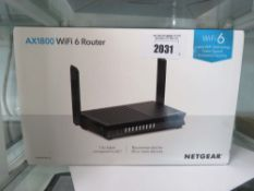 NetGear AX1800 wifi 6 router with box