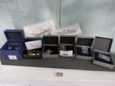 6 boxes of costume jewellery items by Swarovski, Pierre Rucard and Mint for Velvet