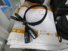 Selection of XLR cables by Choseal x3
